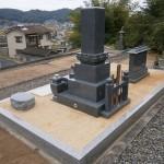お墓の工事完成写真(背面)