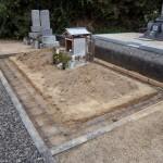 お墓の外構配筋状況