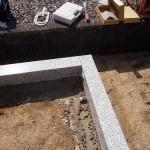 外構石材の接合部の写真(アップ)
