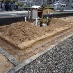 お墓の外構配筋状況(別の角度から)