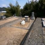 墓地外構部コンクリート打設終了後撮影