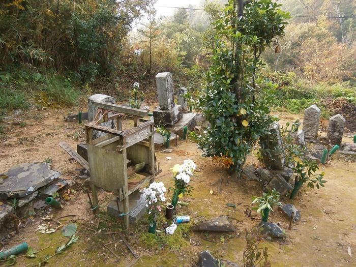 寄せ墓施工前の写真