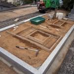 お墓の基礎工事写真(別角度)
