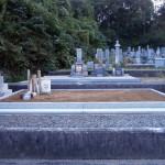 墓地花崗土搬入後の写真(別角度)