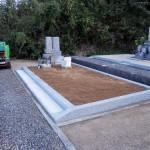 墓地花崗土搬入後の写真