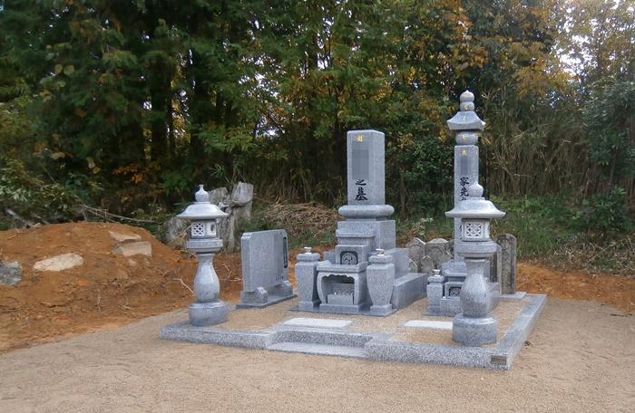 寄せ墓施工後の写真